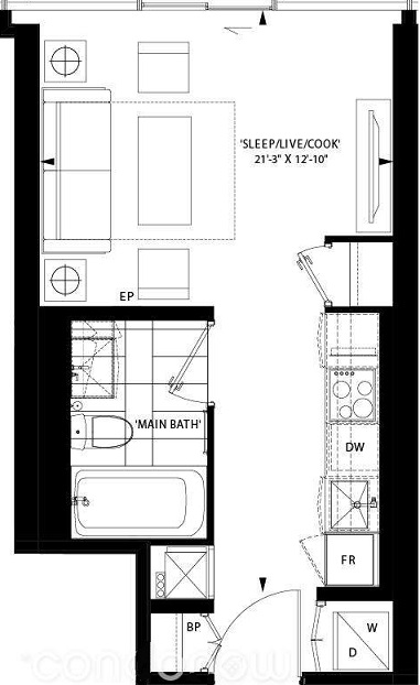 Art Shoppe Condos floor plan T-SB;Freed;