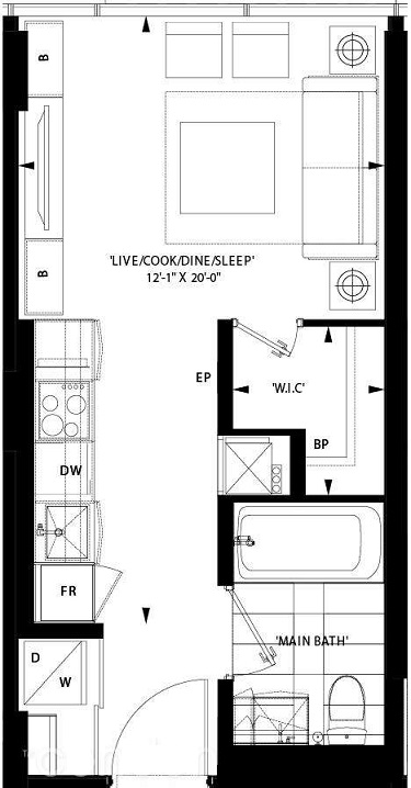 Art Shoppe Condos floor plan L45;Freed;