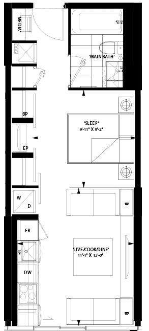 Art Shoppe Condos floor plan L17;Freed;